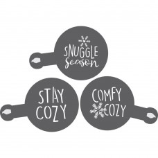 Stay Cozy Barista /Cookie Stencil 3 Piece Set