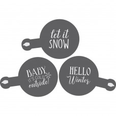 Winter Barista /Cookie Stencil 3 Piece Set