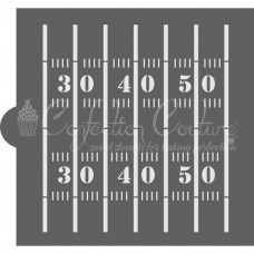 Football Field Cookie Stencil