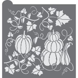 Pumpkin Patch Prettier Plaques Background Cookie Stencil