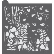 Walk in the Woods Dynamic Duos Background Cookie Stencil