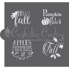 Autumn Basic Words Cookie Stencil