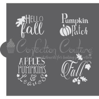 Autumn Basic Words Cookie Stencil