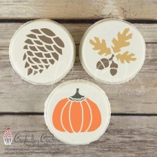 Autumn Round Cookie Stencil 3 Pc Set Oreo and Macaron