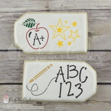 Back to School Accent Cookie Stencil