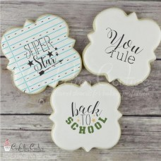 Back to School Basic Words Cookie Stencil