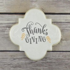 Give Thanks Words cookie Stencil