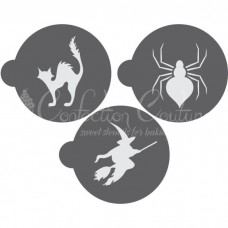 Halloween Round Cookie Stencil 3 Pc Set Oreo and Macaron