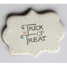 Halloween Words Cookie Stencil