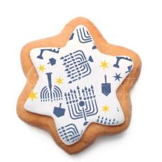 Hanukkah Background Cookie Stencil