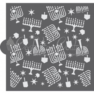 Hanukkah Background Cookie Stencil