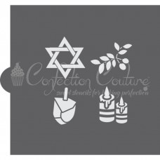 Hanukkah Trinkets Cookie Stencil