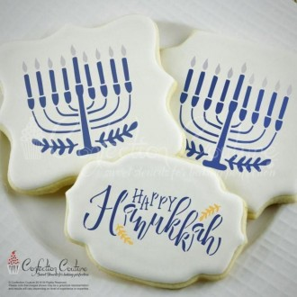 Happy Chanukkah Cookie Stencil