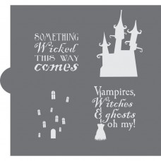 Haunted House Cookie Stencil