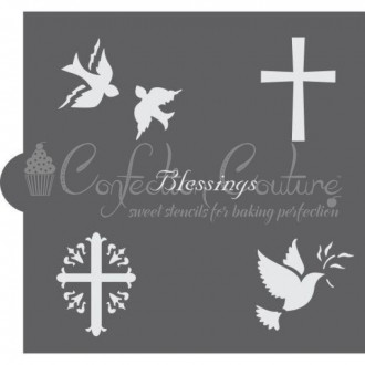 Heavenly Blessings Accent Cookie Stencil