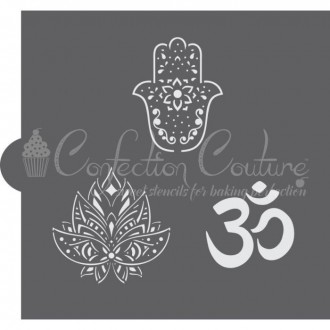 Hindu Symbols Accent Cookie Stencil