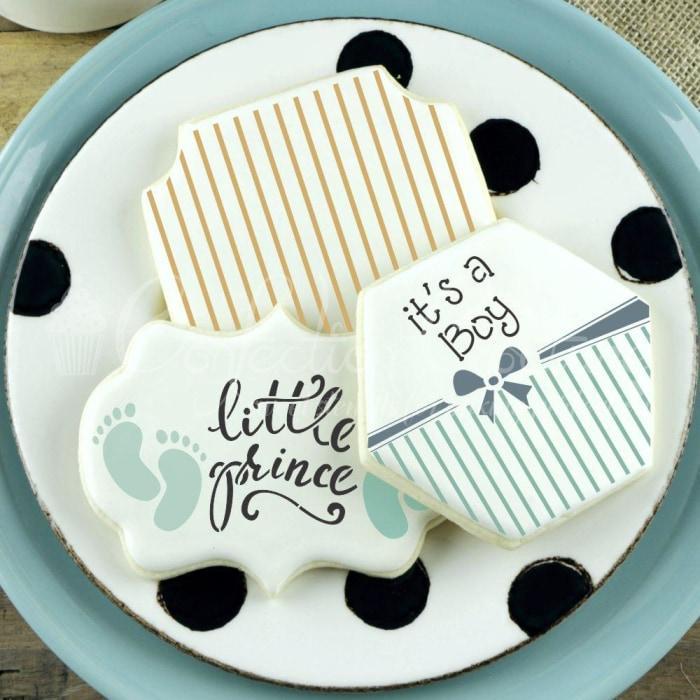 It's A Boy Words Cookie Stencil