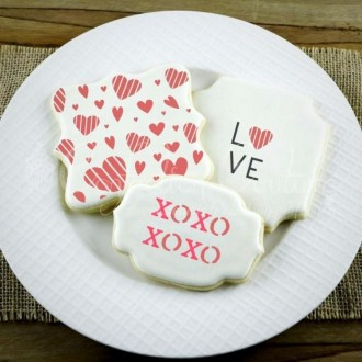 Love Words Cookie Stencil