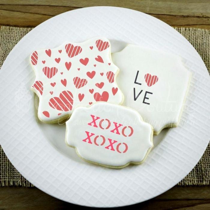 Love Words Cookie Stencil
