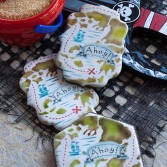 Antique Map Prettier Plaques Background Cookie Stencil