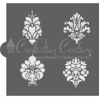 Damask Accent Cookie Stencil