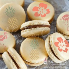 Pineappple Paradise Round Cookie Stencil 3 Pc Set (1 Inch) Oreo and Macaron