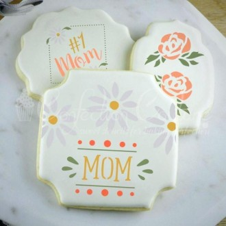 Mother's Day Words Cookie Stencil