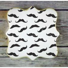 Mustache Background Cookie Stencil