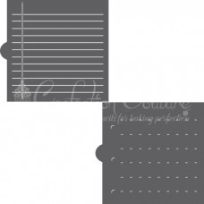 Notebook Paper 2 Overlay Background Cookie Stencil
