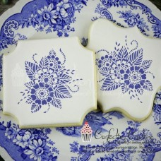 Ornamental Floral Accent Cookie Stencil