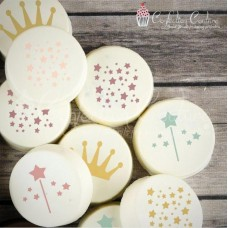 Princess Round Cookie Stencil 3 Pc Set Oreo and Macaron