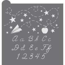 School Days Prettier Plaques Cookie Stencil 5 Pc Set