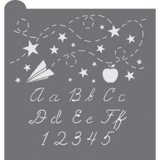 School Days Prettier Plaques Cookie Stencil 5 Pc Set