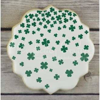 Shamrock Shower Background Cookie Stencil
