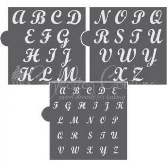 Simply Sweet Alphabet Cookie Stencil Set