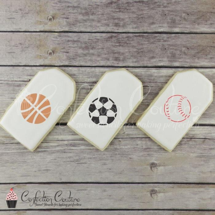 Sports Accent Cookie Stencil