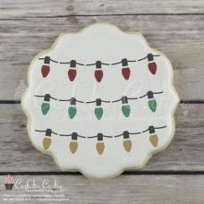 String Lights Cookie Stencil