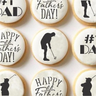 Golf Dad Cookie Stencil