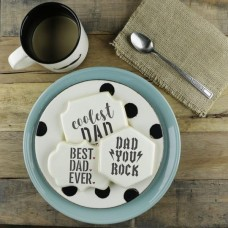 Happy Father's Day Messages Cookie Stencil