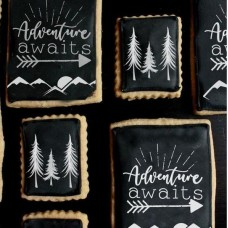 Adventure Awaits 2 Piece Cookie Stencil Set