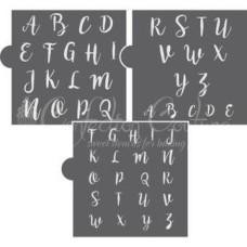 Sweetheart Swirl Alphabet Cookie Stencil Set