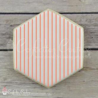 Thin Stripe Background Cookie Stencil