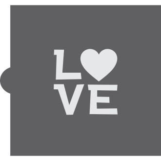 Love Message Cookie Stencil