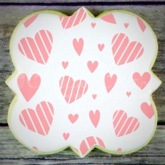 Whimsy Hearts Background Cookie Stencil