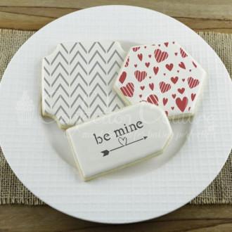 Valentines Words Cookie Stencil