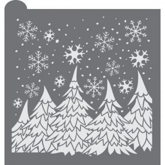 Winter Wonderland Cookie Stencil