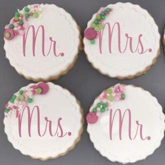 Wedding Couple Cookie Stencil