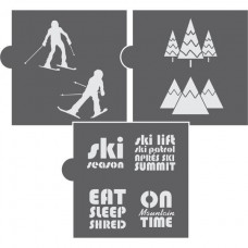 On Mountain Time - 3 Piece Cookie Stencil Set