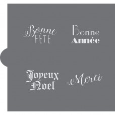 French Event and Holiday Greetings Cookie Stencil