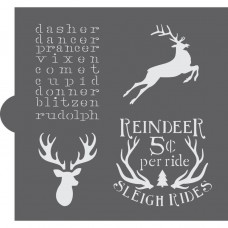 Reindeer Games Cookie Stencil